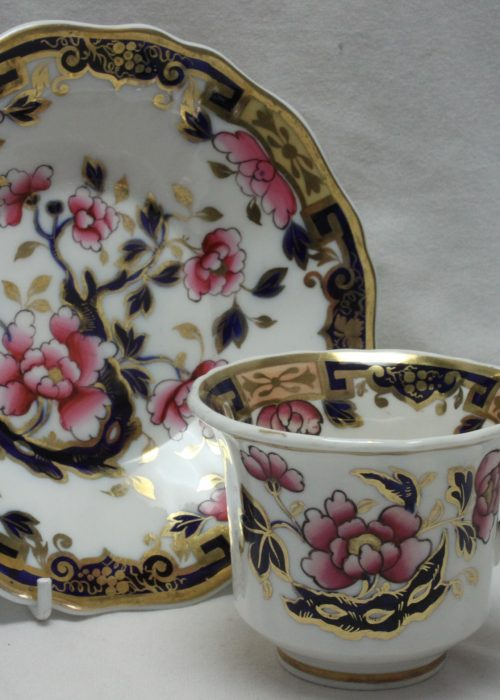 Ridgway hand coloured and gilded cup and saucer pattern 2/1212