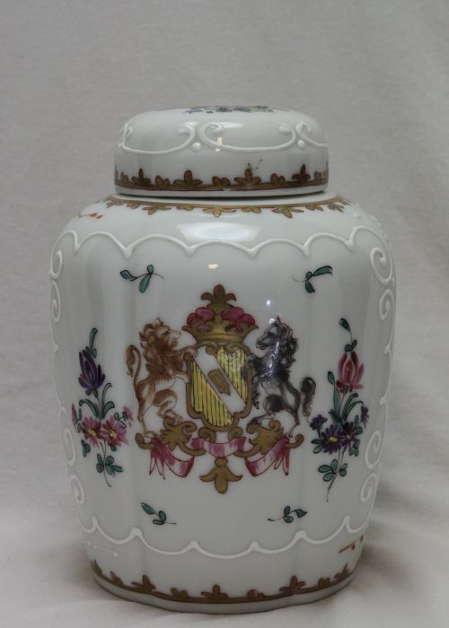 Samson of Paris armorial tea canister