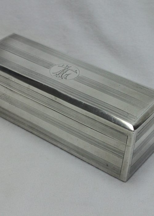 Silver box with hinged lid