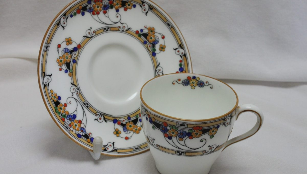 Royal Doulton hand coloured demitasse pattern H3596
