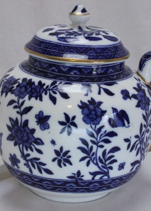 Small blue and white teapot