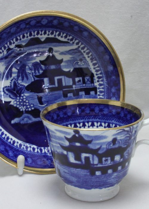 Stevenson Alcock and Williams blue and white cup and saucer
