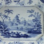 Minton Chinese Marine blue and white dish