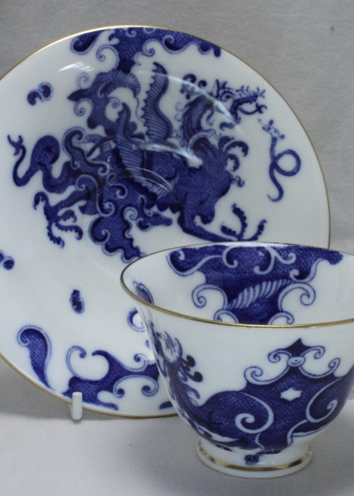 Royal Worcester blue and white cup and saucer