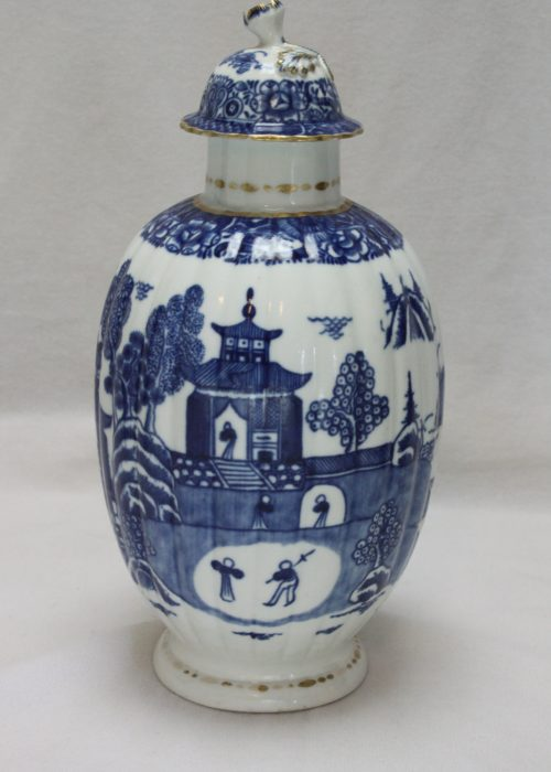 Caughley porcelain tea canister