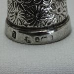 Sterling silver thimble by Charles May of Birmingham 1903