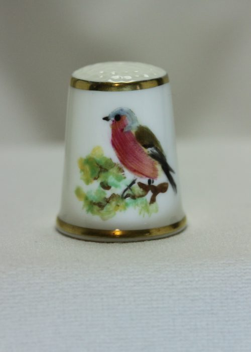 Royal Worcester porcelain thimble hand painted by Carolyn Bullock