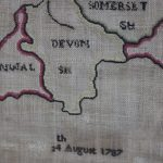 Needlework map of English and Welsh counties