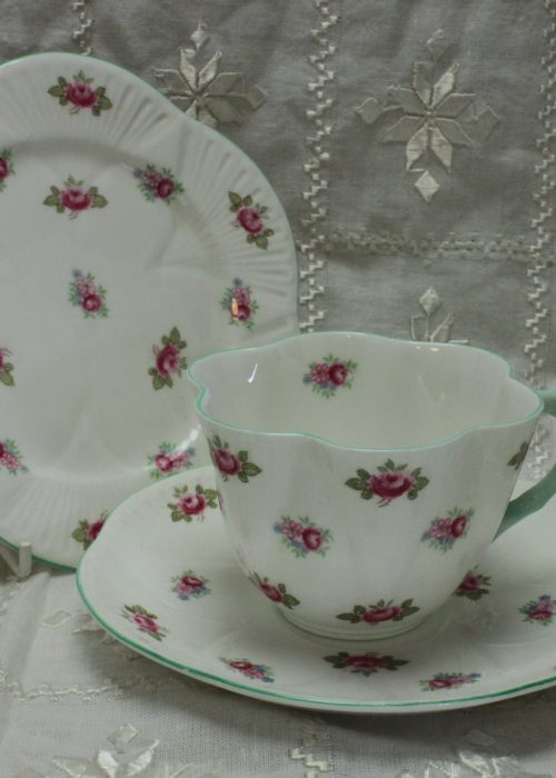 Shelley Dainty shape cup saucer and plate Rosebud patt 13426