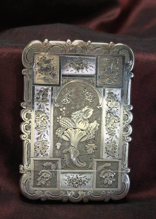 Sterling silver card case by Edward Smith of Birmingham 1854