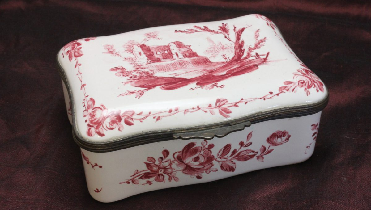 Enamel trinket box by Samson of Paris