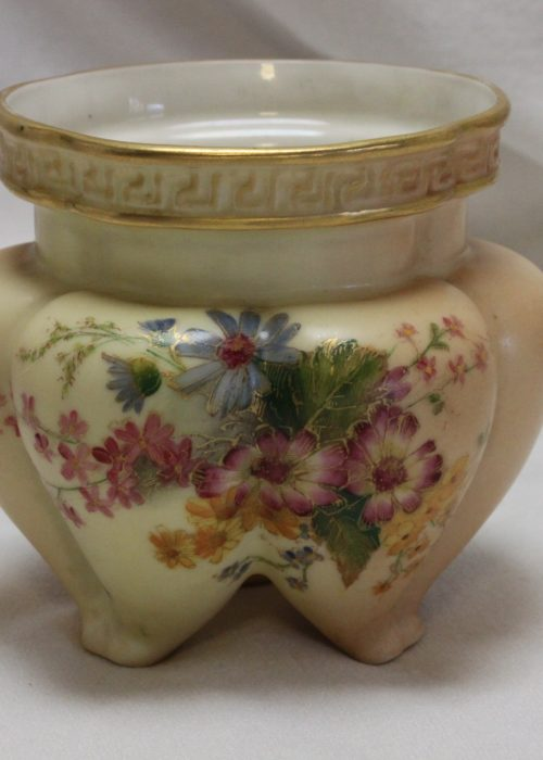 Royal Worcester blush ivory violet vase