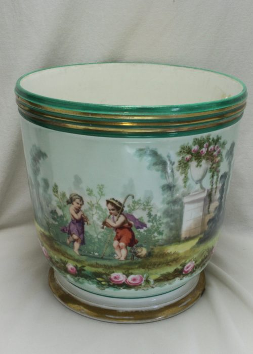 French porcelain jardiniere