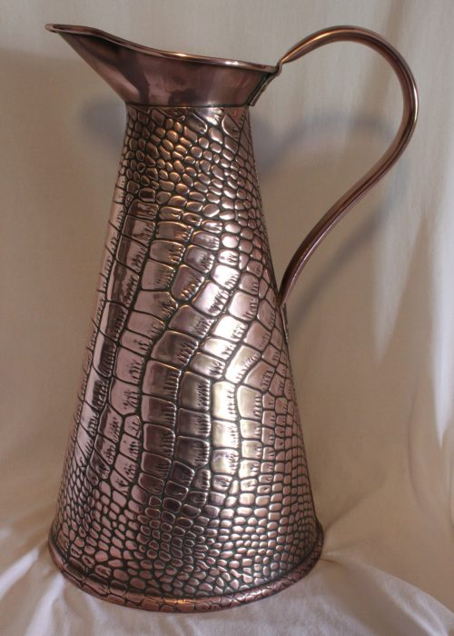 Crocodile skin jug by Sankey and Sons