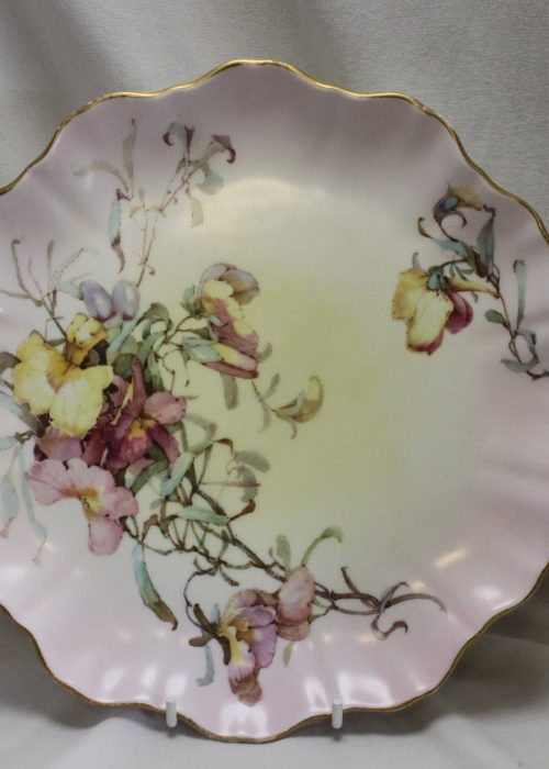 Doulton Burslem hand coloured plate pattern C2749