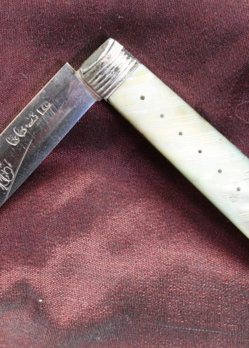 Sterling silver bladed fruit knife by John Creswick Sheffield 1817
