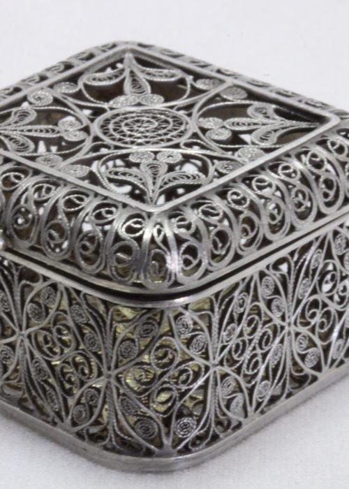 Filigree silver box