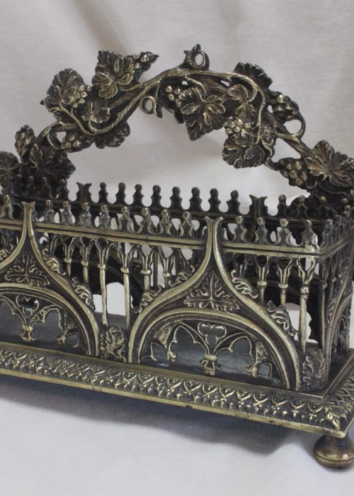 Cast brass Gothic letter rack