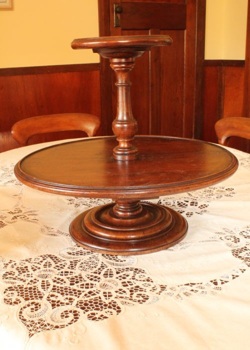 Large mahogany Lazy Susan
