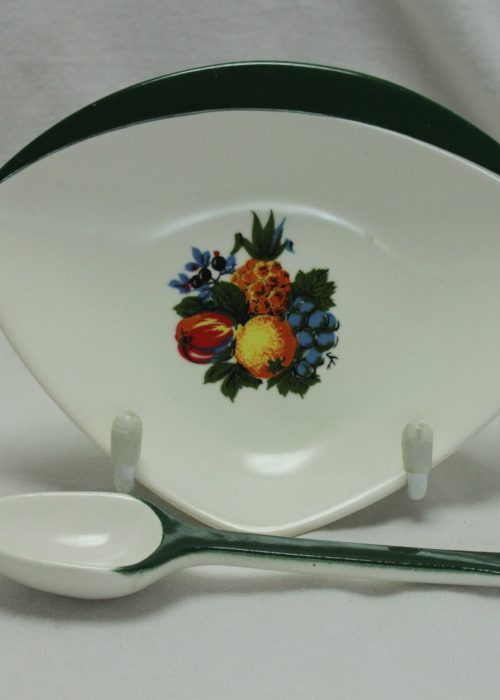 Carltonware jam dish with spoon