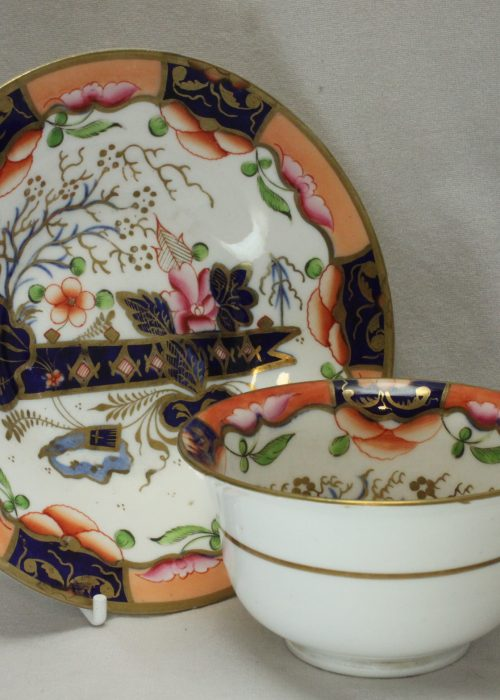Samuel Alcock hand decorated cup and saucer.